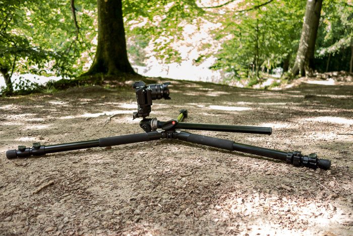 Tripods for Landscape Photography: Manfrotto tripod in minimum height configuration