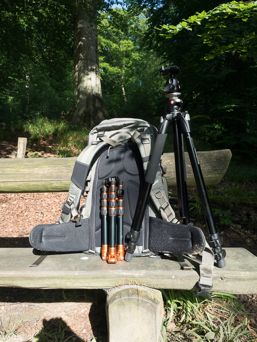Tripods for Landscape Photography: Photo of Manfrotto 055XPROB and backpack set