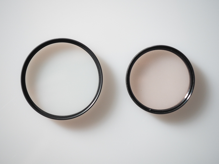 Filters for landscape photography: Example of threaded round filters