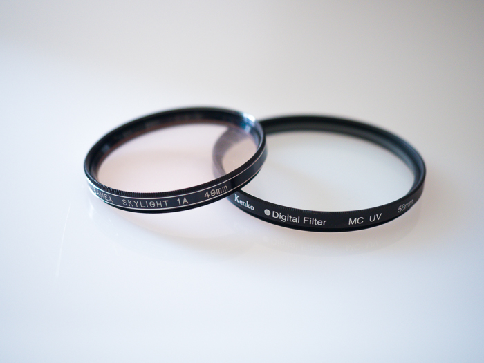 Filters for landscape photography: Example of Skylight filter and UV filter