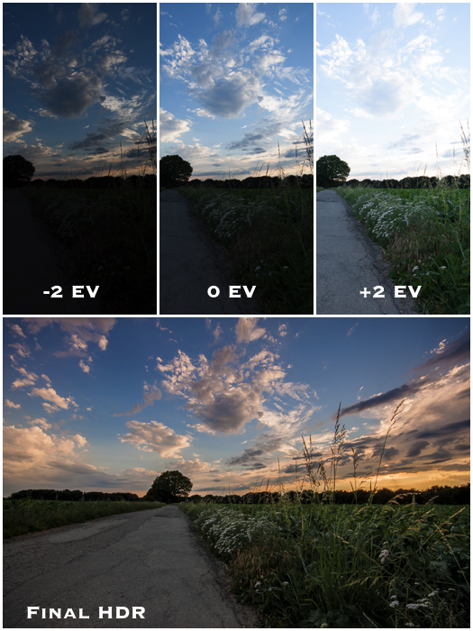 Filters for landscape photography: Example of HDR technique used in Lightroom