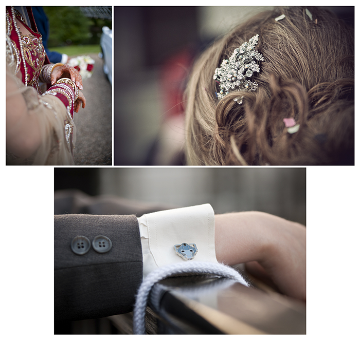 Photographing wedding details: Wedding party details collage