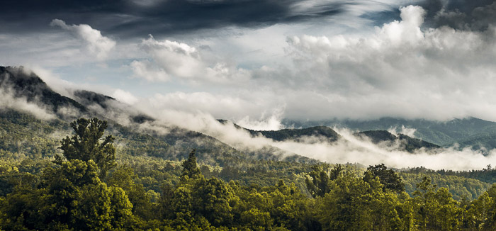 beautiful landscape photography shot on a cloudy day