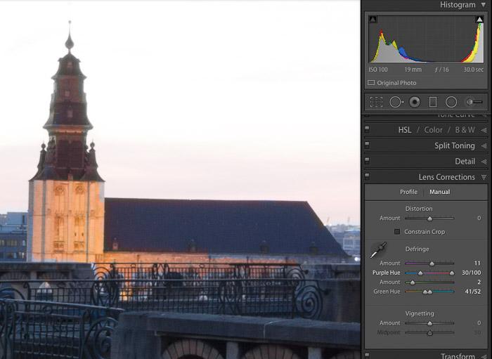 Screenshot of Manually Correcting CA in a photo of a church
