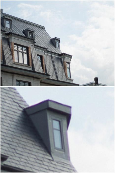 Diptych show incidences of purple fringing on a garrett window