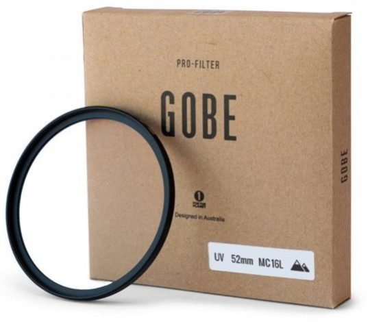 A UV Filter beside its packaging