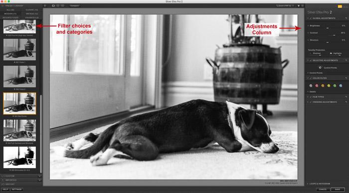 Silver Efex - Ejemplo de ajustes y filtros en blanco y negro.
