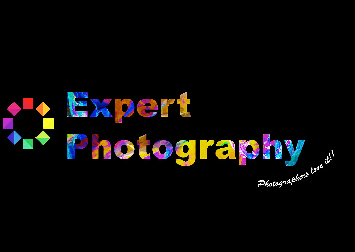 Expertphotgraphy logo enhanced with photoelasticity photography texturing
