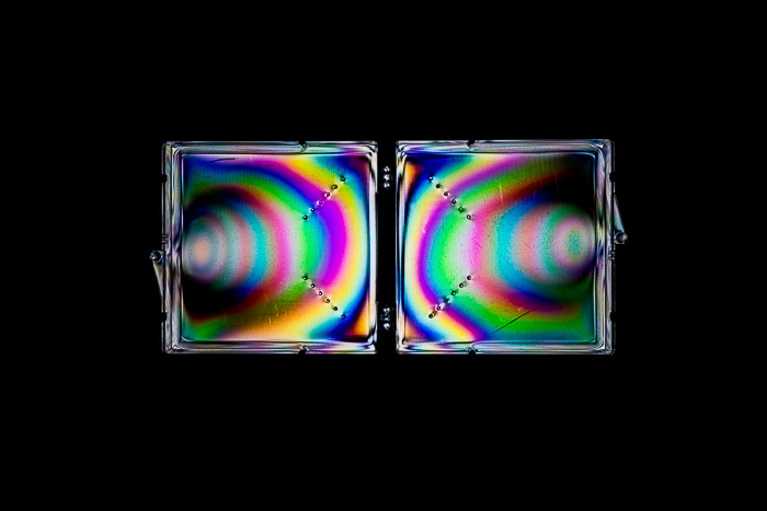 Polypropylene objects make wonderful photoelastic effects