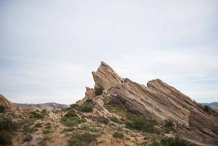 A Desert Landscape with the Vasquez Rocks - editing raw photos