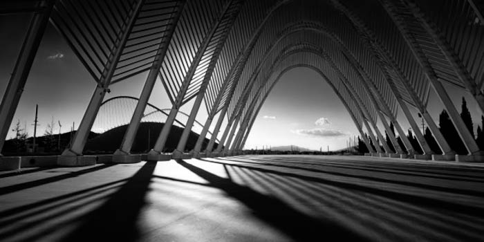 Using shapes and strong light to create stunning architectural black and white photography