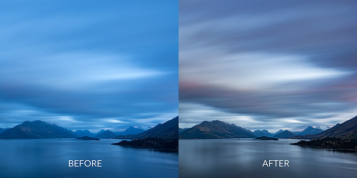 Using the raw editor is the best way to start processing your landscape photography images