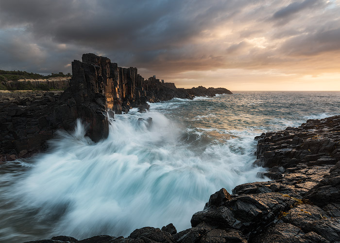 Knowledge of the weather and the tide coming in and out will make better landscape photography