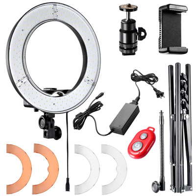 The Neewer ring light kit is the a great photography gift