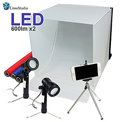 This LED lit table top studio kit from LimoStudio is a great gift for photographers
