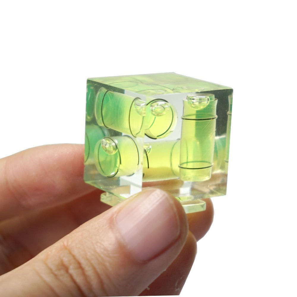 This bubble spirit level is a perfect gift for photographers
