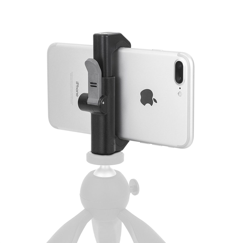 A perfect photographer gift would be a quick release tripod mount for smartphones