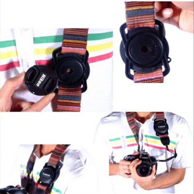 This lens cap holder by MegaGear is a great gift idea for photographers