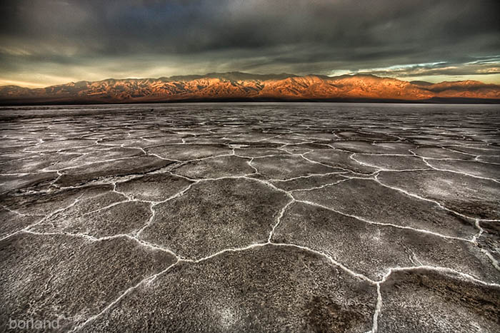 Desert photography at Badwater, Death Valley, emphasizing the foreground and its pattern