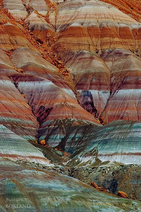 Patrón de erosión de ladera cerca de Pareah, UT