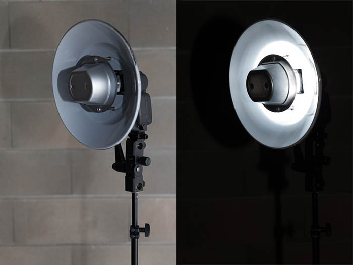 diy beauty dish made out of two plastic bowls