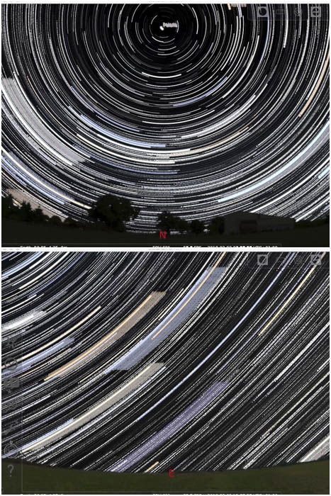 simulated star trails image