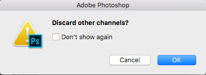 discard other channels photoshop