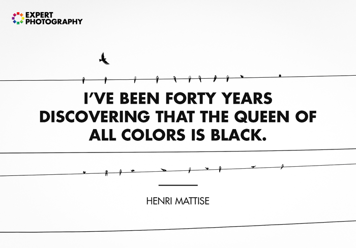 uma citação sobre fotografia em preto e branco por henri matisse