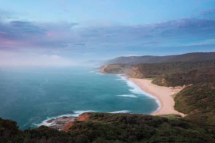 Pretty sunrise seascape shot from a cliff top