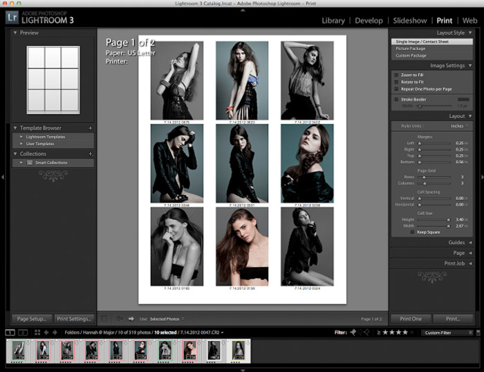 Showing a contact sheet to help with your workflow