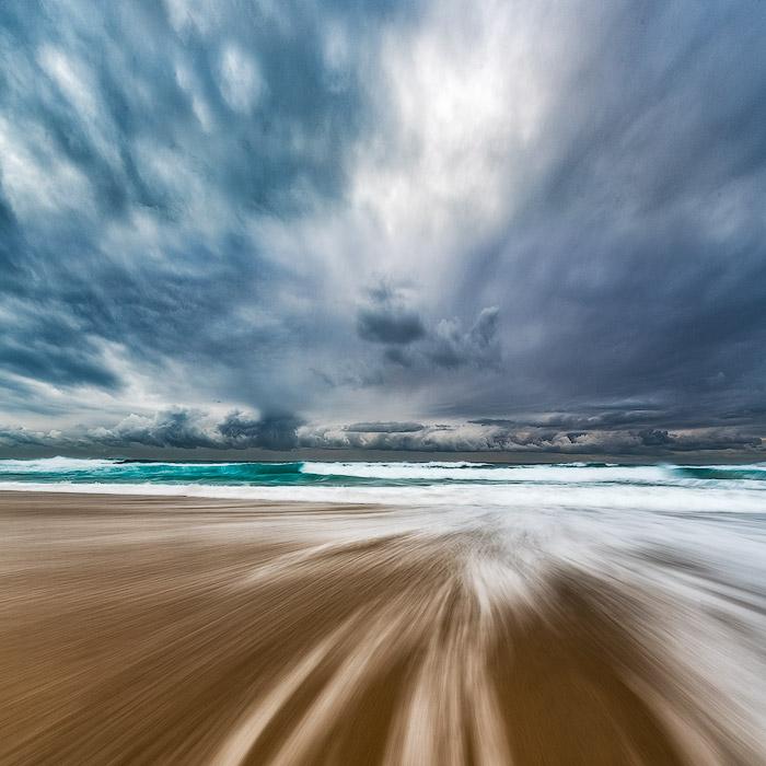 flowing water seascape