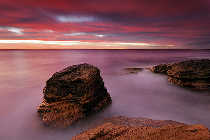 landscape photography long exposure at sea