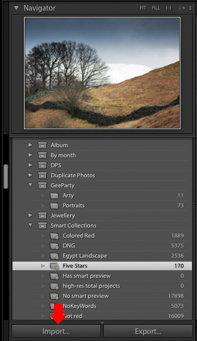 Importing images into Adobe Lightroom