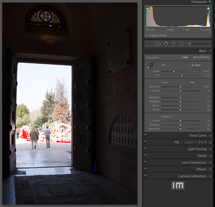 Using an image of a doorway to show how local adjustments can help you get the best from your image