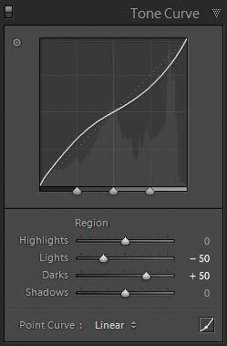Using the tone curve in Lightroom