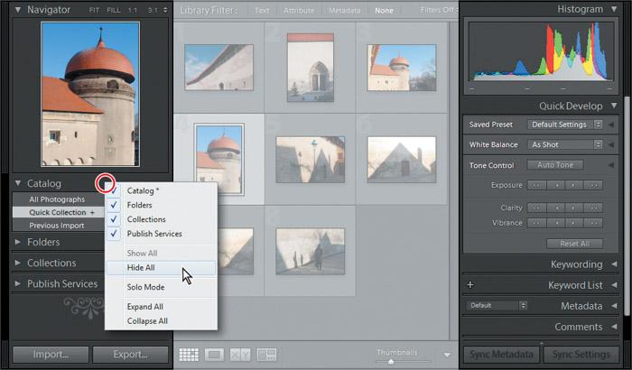 Managing your workflow in Adobe Lightroom