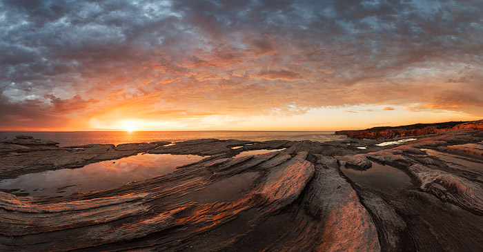 Beautiful pictures of seascape photography coast at sunrise