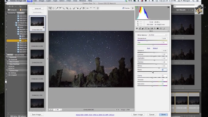 Using Camera raw to batch edit your images