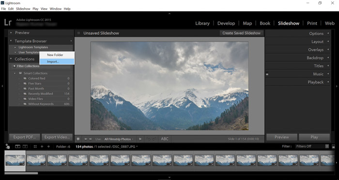 Using Lightroom for your time-lapse photography projects