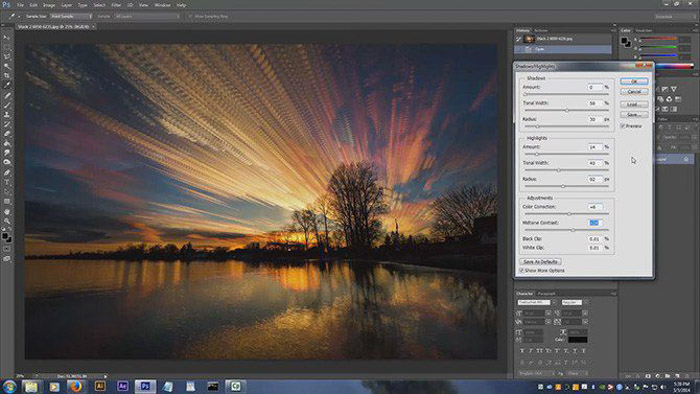 Using image stacking in Photoshop