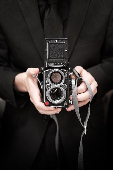 A Rolleiflex medium format Twin-Lens Reflex - what is a DSLR camera?