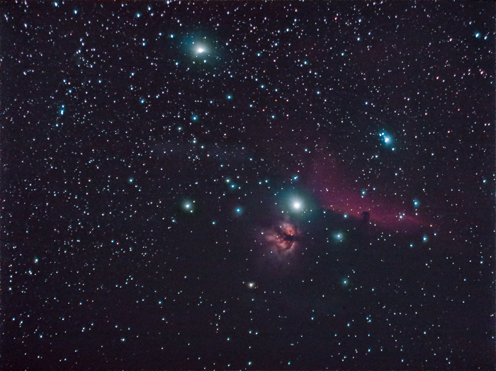 post processed astrophotography stellar constellation