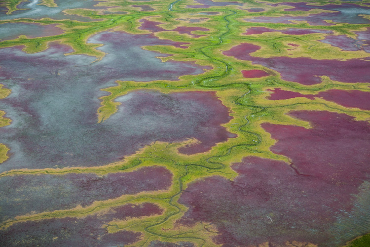 Aerial photography view of a beautiful patterned landscape