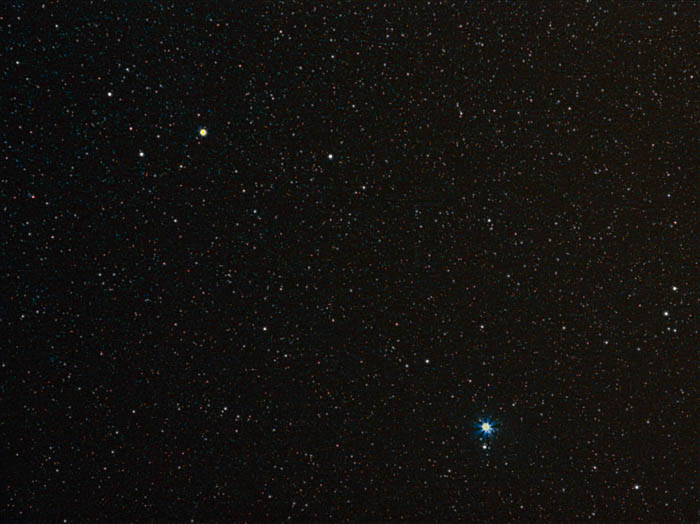 A star filled sky featuring the Canis Minor Constellation.