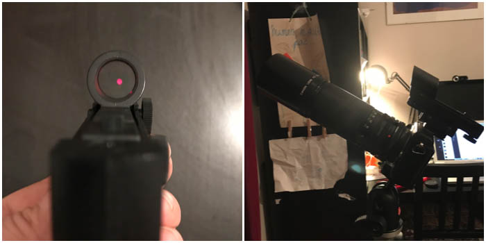 how to set up a red dot star pointer