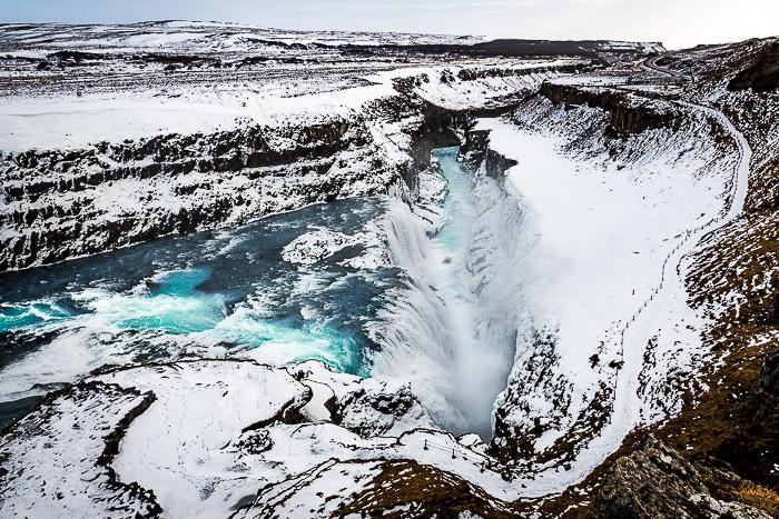 Uma impressionante fotografia aérea de viagem tirada na Islândia