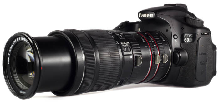 extension tubes on canon camera