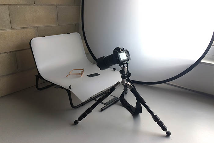 Natural Light Product Photography Setup with Diffuser