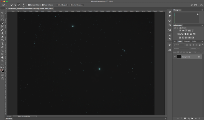 photoshop cc starry sky photo