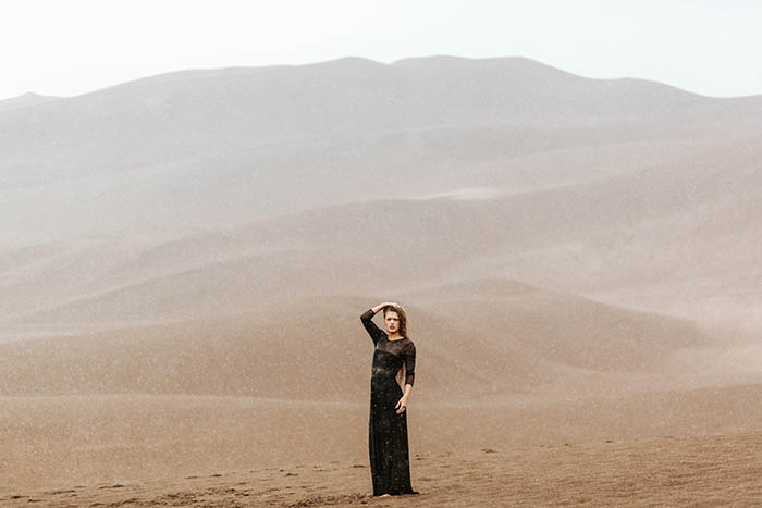 woman in the desert